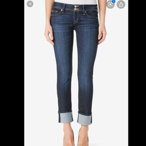 Hudson Ginny cropped cuffed jeans